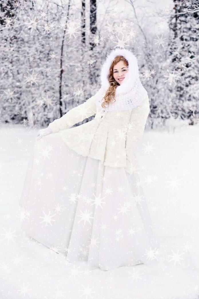 suknia slubna w zimie
