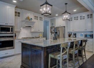 nowoczesne oświetlenie w kuchni